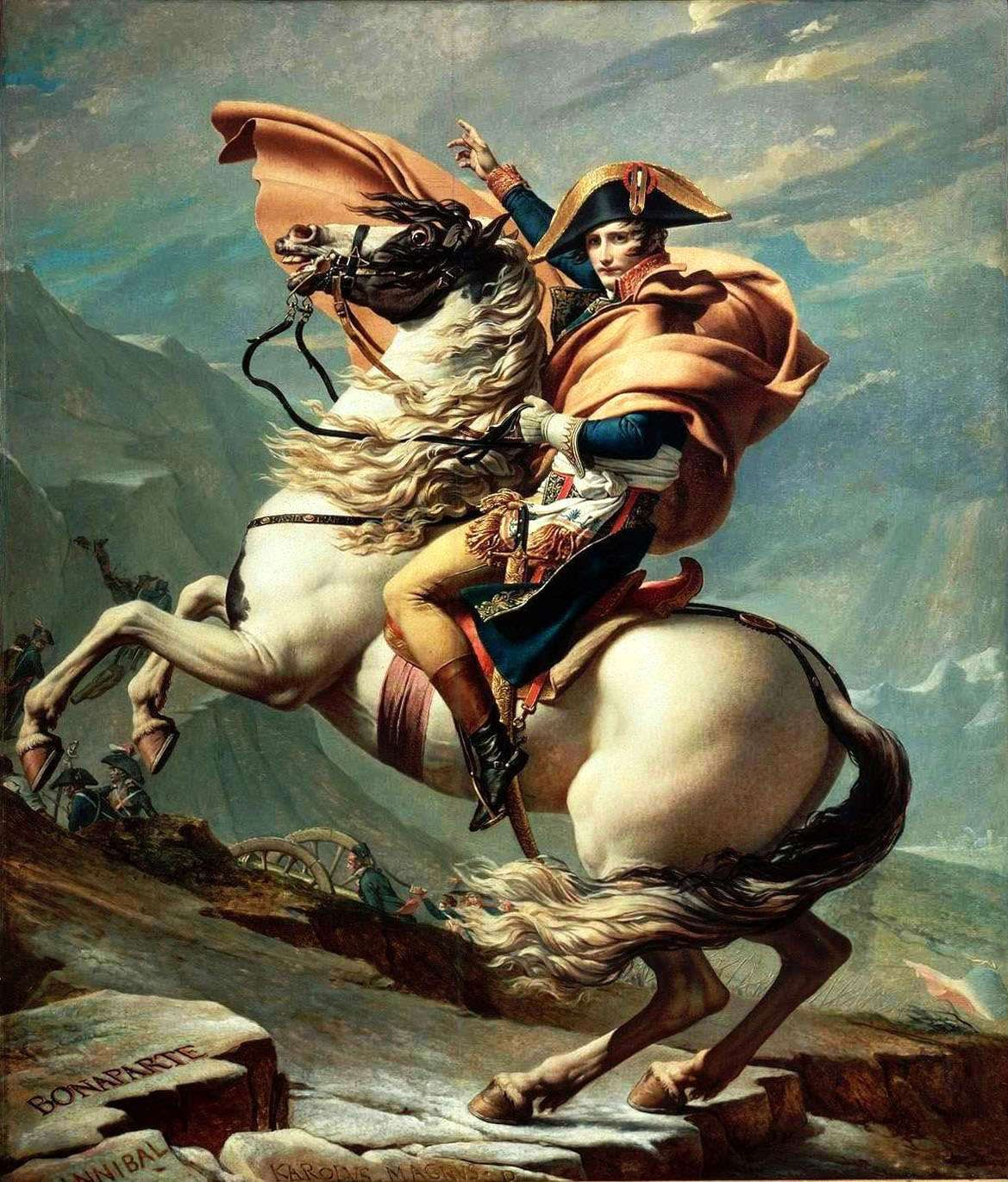 David's Napoleon is noble — but not accurate.