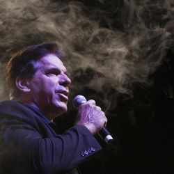 Lou Ferrigno speaks during the Salt Lake Comic Con kickoff news conference at the Salt Palace Convention Center in Salt Lake City, Thursday, Sept. 4, 2014.