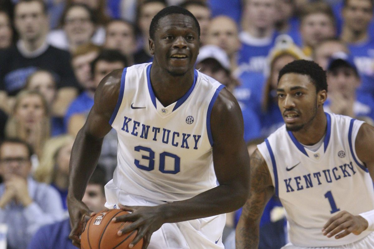 Julius Randle and #11 Kentucky are one half of the best game of the day as they travel to play #18 North Carolina.