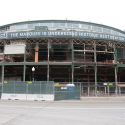 11:35 a.m. The front of the ballpark -