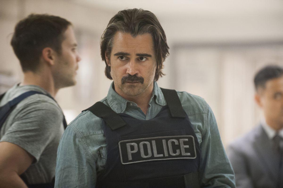 Colin Farrell and his mustache star in True Detective season two.