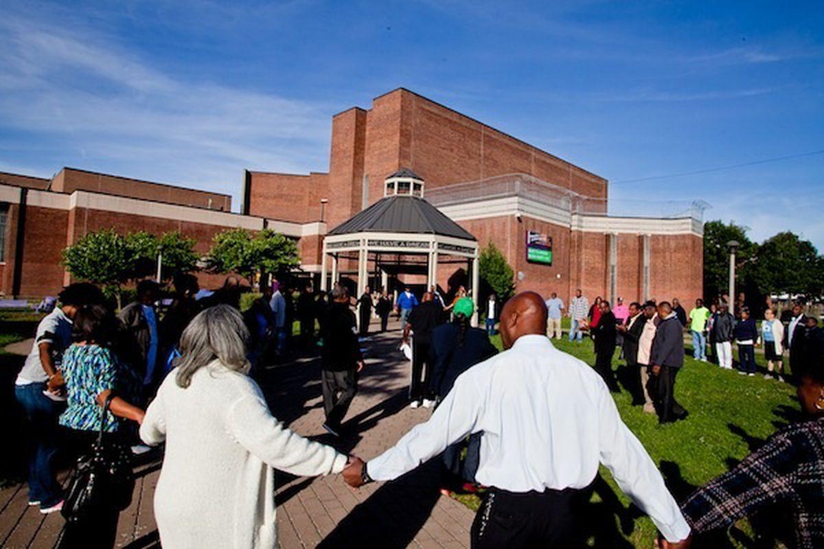 First day of school at MLK high school, September 9, 2013.
