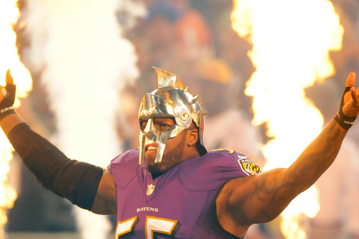 the best attitude 9ec78 5eefe Terrell Suggs takes one for the team - Baltimore Beatdown