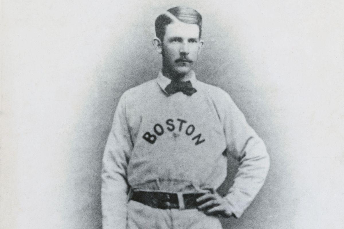 Albert Spaulding Posing in Baseball Uniform