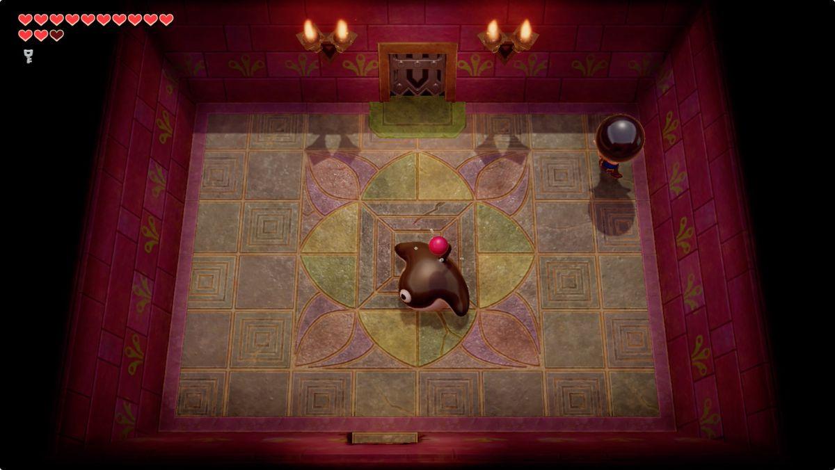 Link's Awakening Face Shrine Smasher mini-boss fight