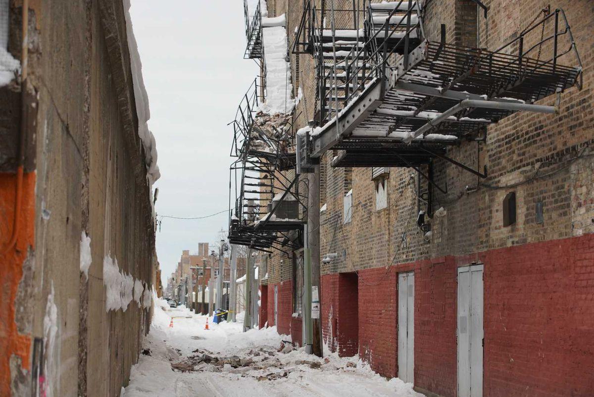 A wall of the Aragon Ballroom fell Feb. 2 in the Uptown neighborhood.