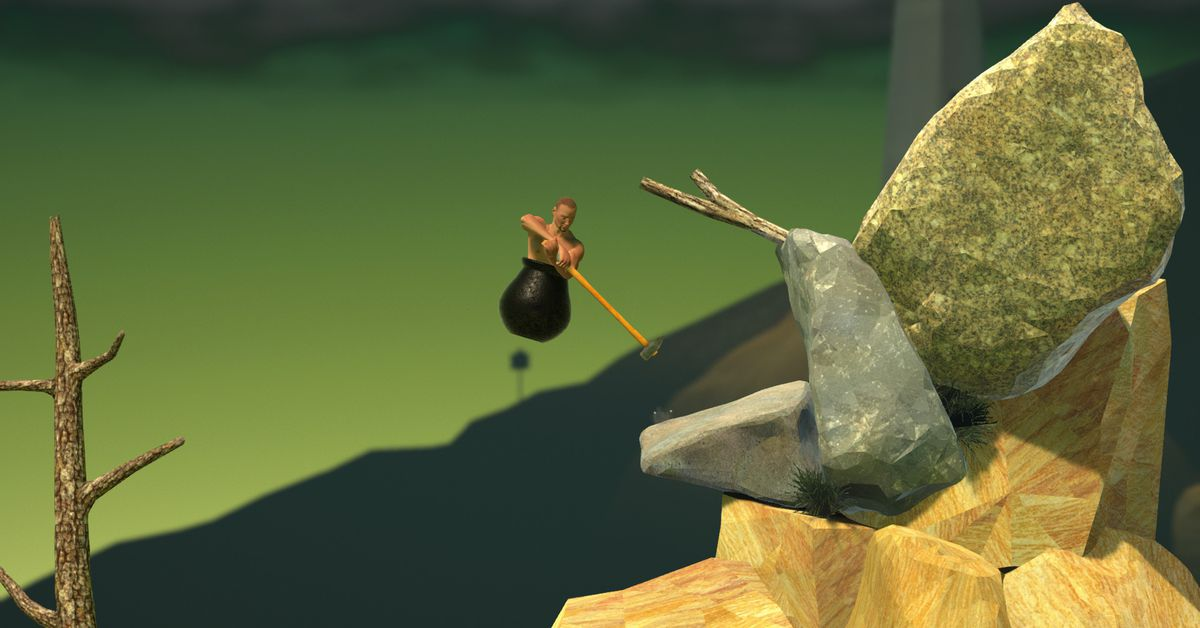 Watch Getting Over It completed in 1:56 minutes and despair