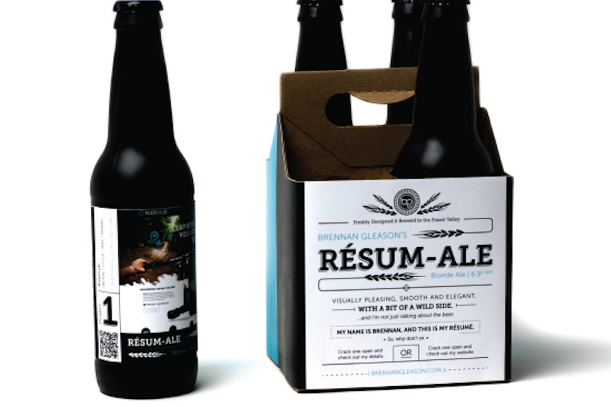 Printing Your Resume On Beer Is A Smart Way To Get The Job Eater