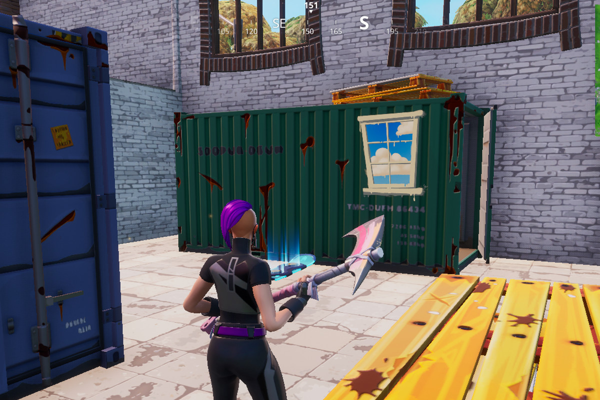Fortnite chests inside containers with windows Spray guide and map