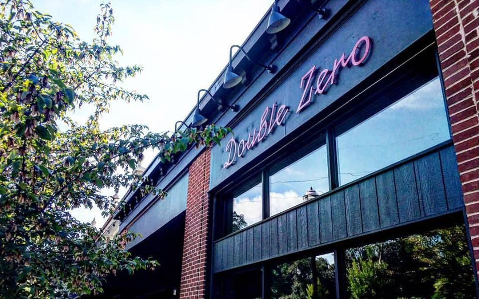 Exterior signage at Double Zero's new Emory Village location.
