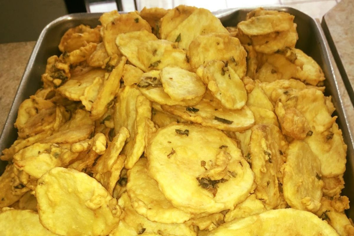 Potato bhajia at Tulsi