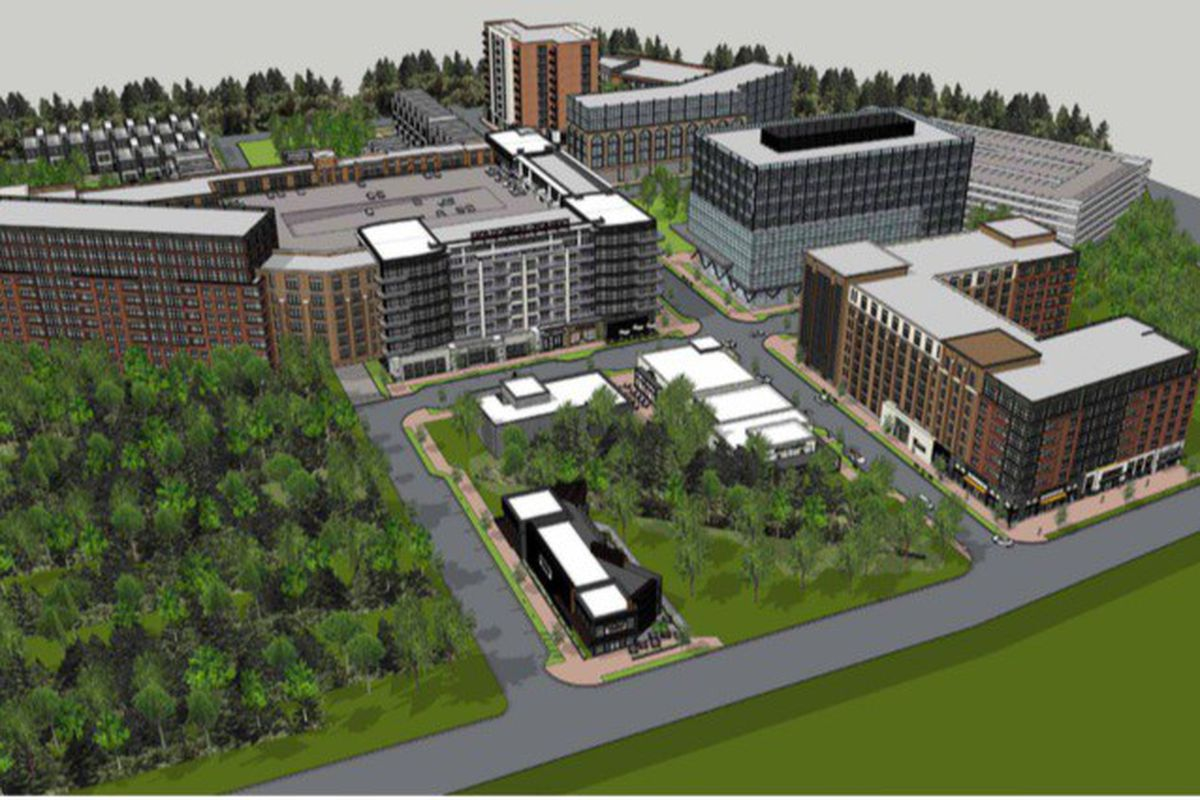 A conceptual rendering of the Echo Street Project.