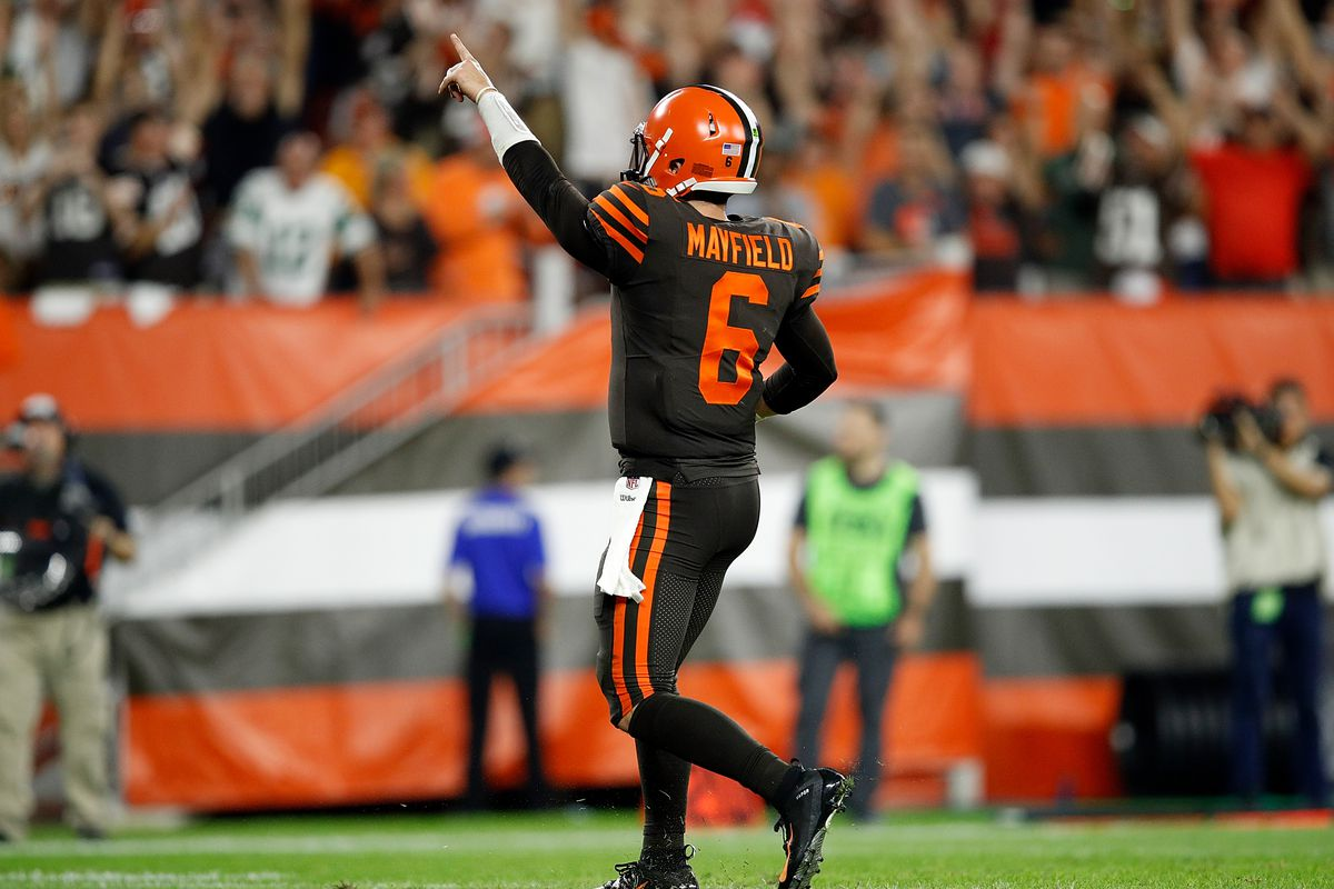 4a8bdea50 Baker Mayfield leads Browns to 21-17 win over Jets on  Thursday Night  Football