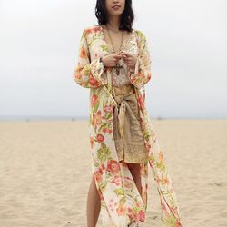 "Rachel of <a href=""http://www.thatschic.net/2013/03/nine-and-gang.html"">That's Chic</a> is wearing a vintage St. John kimono, an Emanuel Ungaro skirt, a Leyendecker shirt and <a href=""http://www.ninewest.com/Shaky/10826557,default,pd.html?variantSizeClass"