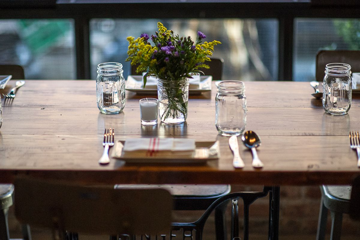 [The table setting at Feast in the East Village]