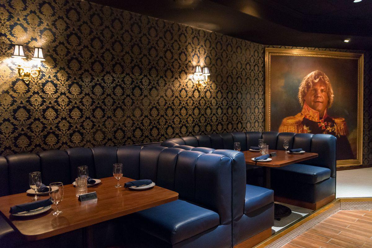 A handsome restaurant interior