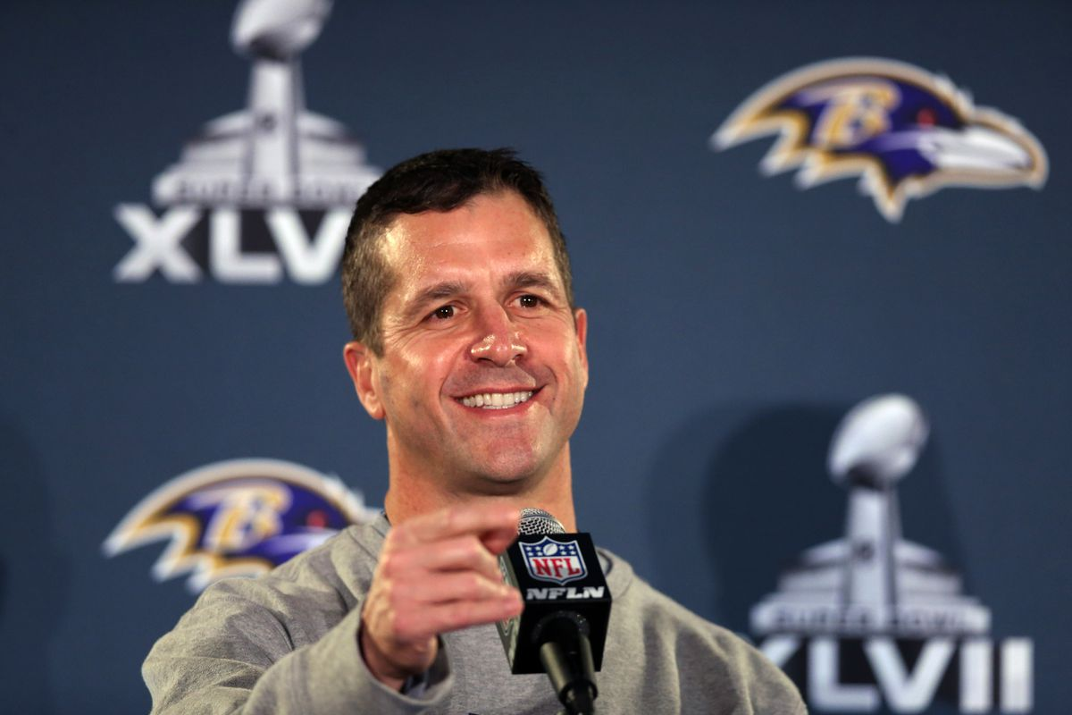 Ravens coach John Harbaugh says Michael Sam will fit in.