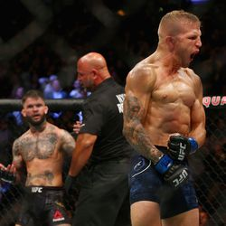Dillashaw continues to celebrate his victory over his former Team Alpha Male team mate.