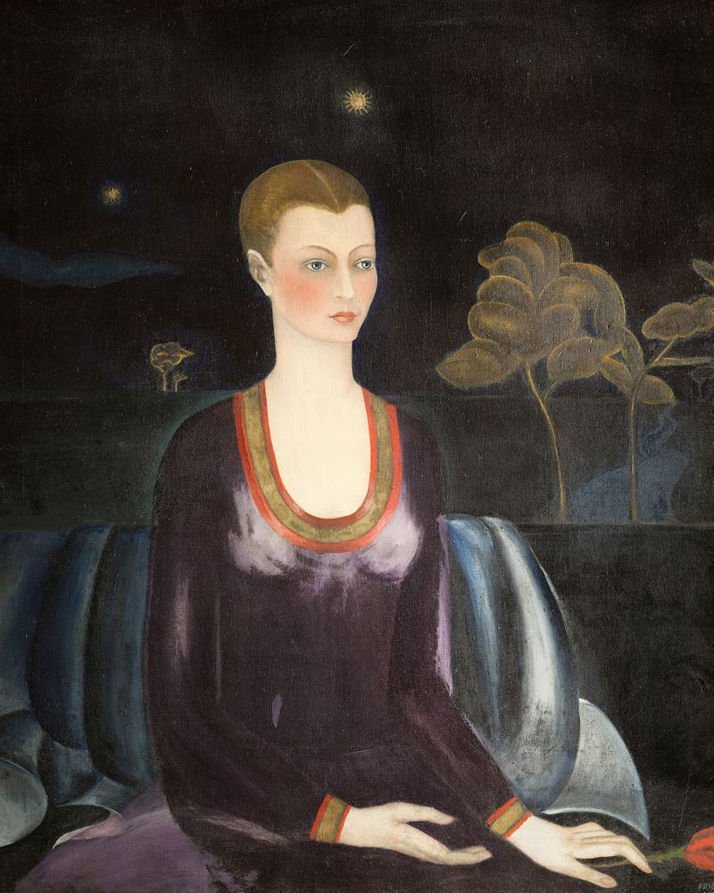 "Frida Kahlo, ""Portrait of Alicia Galant,"" 1927, oil on canvas. Collection Museo Dolores Olmedo, Xochimilco, Mexico."