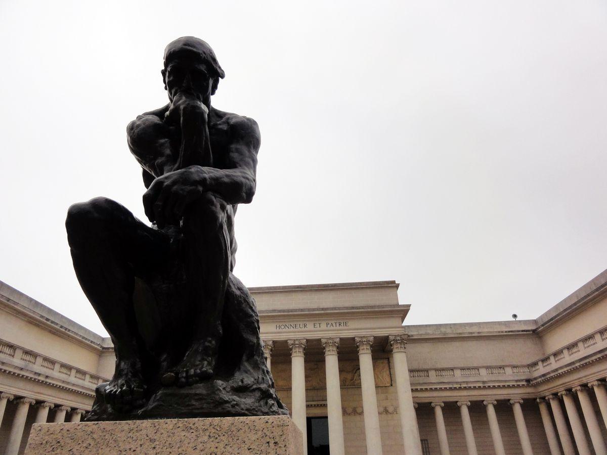 """Rodin's """"Thinking Man"""" at Legion of Honor, courtesy of Alma herself."""
