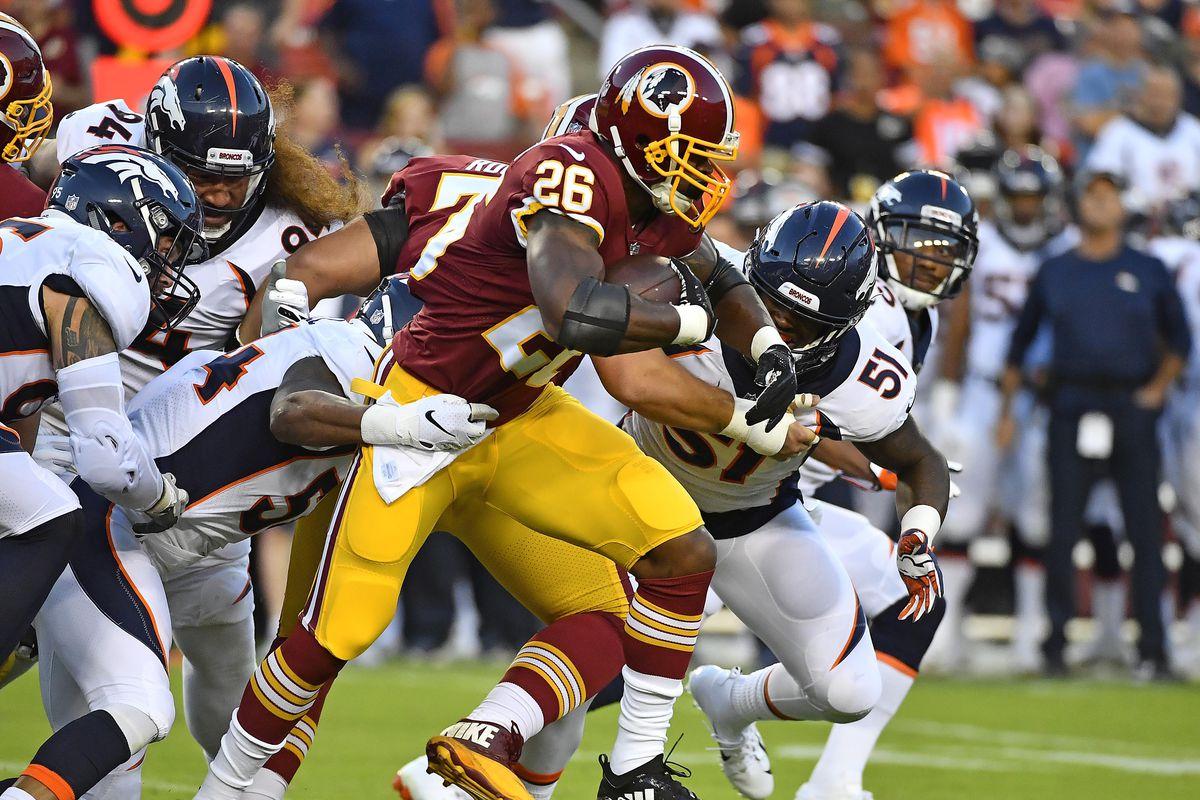 size 40 e4c03 b18f3 NFL Preseason 2018: Adrian Peterson makes his Redskins debut ...