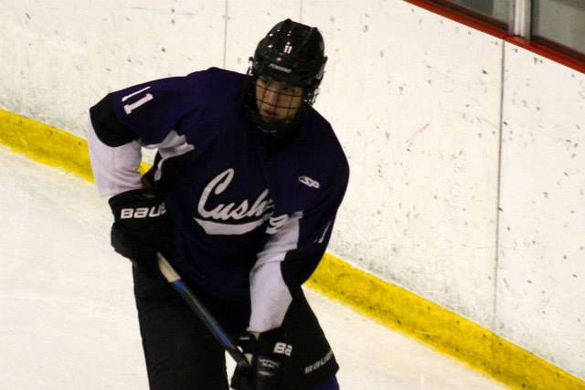Cushing Academy forward and 2015 NHL Draft prospect David Cotton