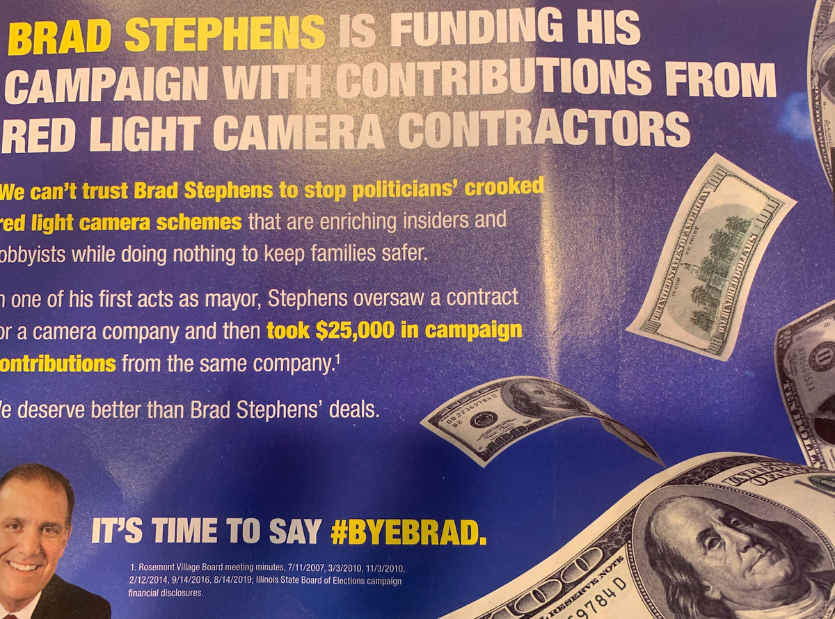 Another campaign flier from Illinois House Speaker Michael J. Madigan's political operation targeting GOP state Rep. Bradley Stephens.
