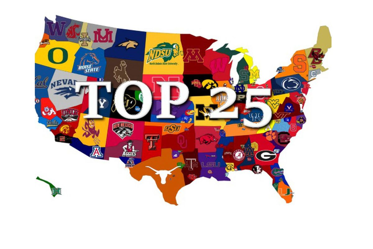 College football AP Top 25 Poll released