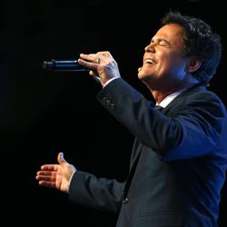 Donny Osmond sings at RootsTech at the Salt Palace in Salt Lake City on Saturday, Feb. 14, 2015.