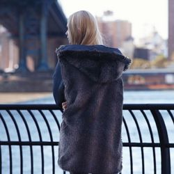 The parker with a fur liner, which can be worn two different ways, was $395 and is now $276.50