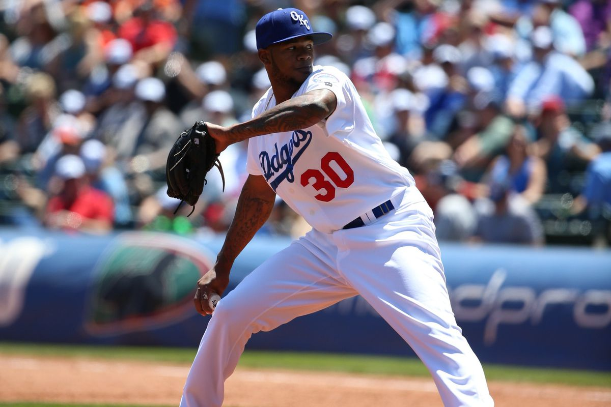 Lisalverto Bonilla started and relieved in the Dodgers' minors in 2016.