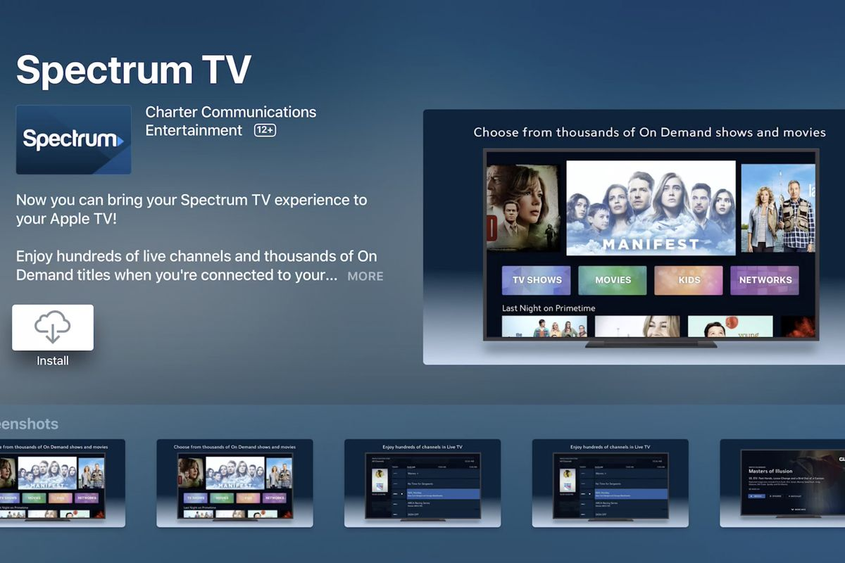 Charter's new Spectrum app for Apple TV users doesn't require logins