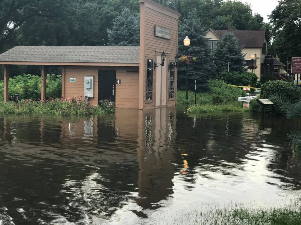 Many roads and parks remain closed in Algonquin, where sandbagging efforts are being ramped up in anticipation of possible heavy rains Friday night. | Algonquin Police Dept.