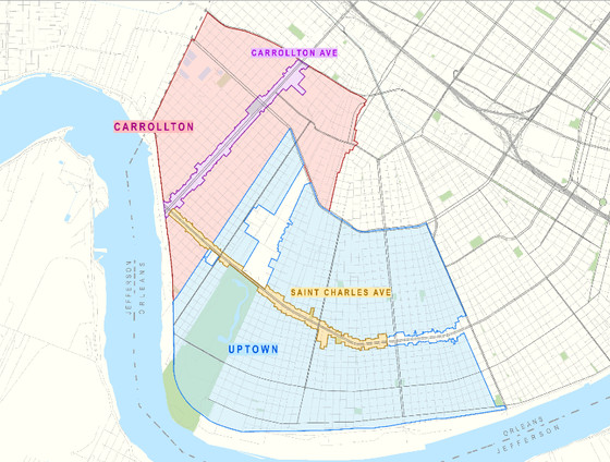uptown new orleans map Uptown And Carrollton Neighborhoods Officially Added Under The uptown new orleans map