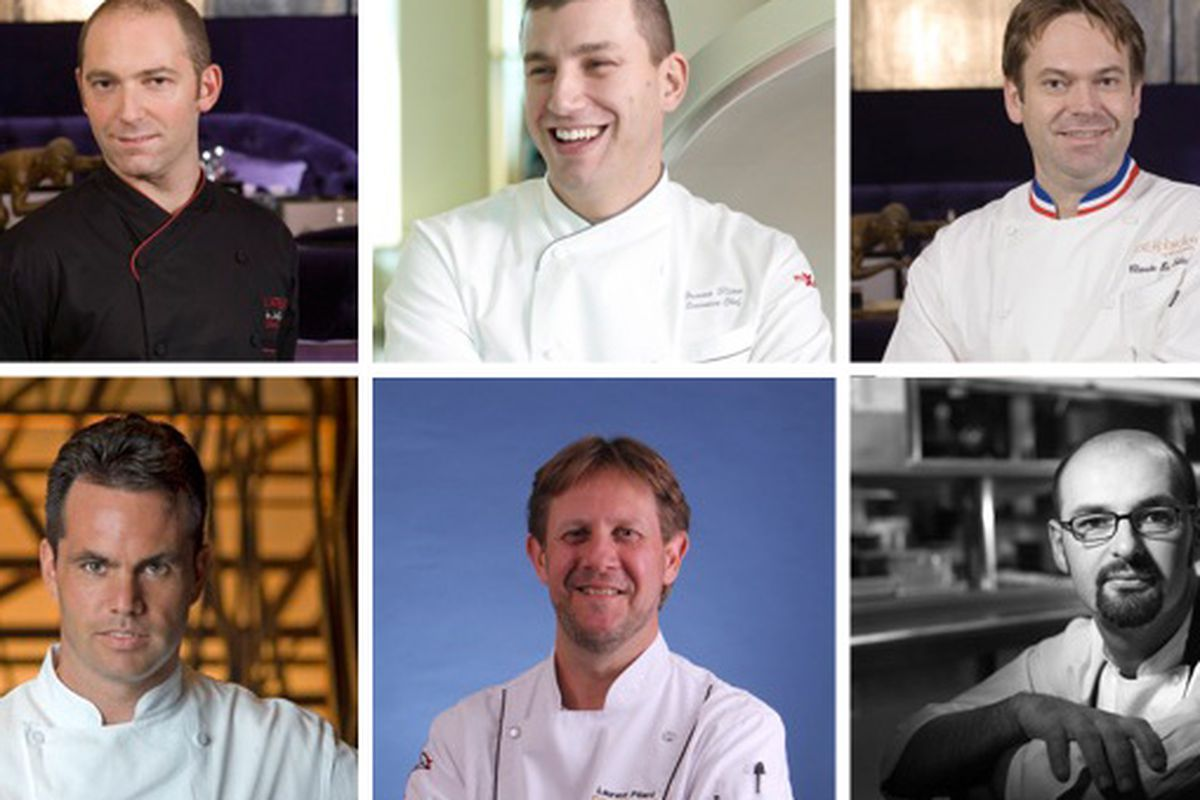 From top left: Steve Benjamin, Bruno Riou, Claude Le-Tohic. From bottom left: Stephane Chevet, Laurent Pillard, Vincent Pouessel