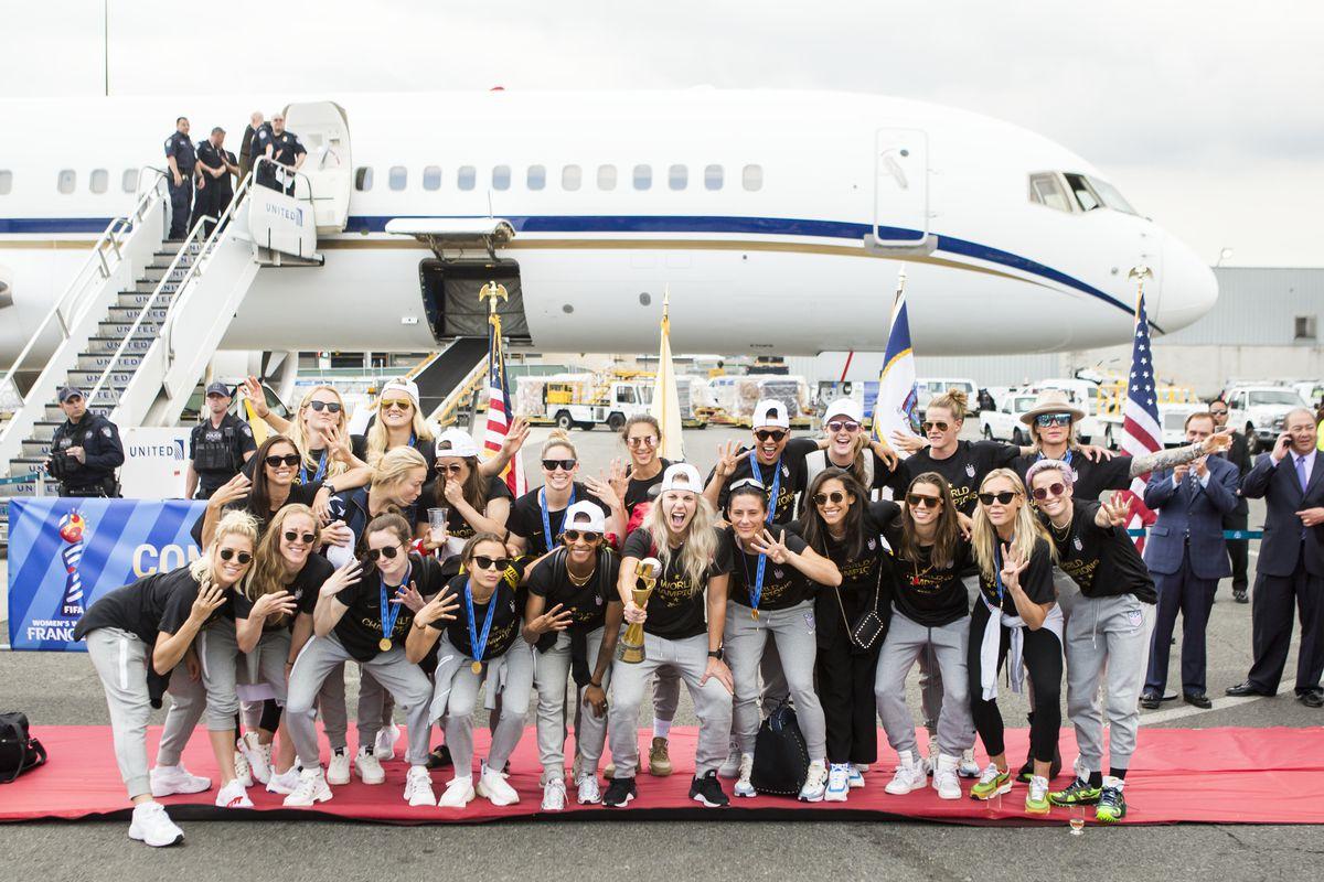 U.S. WNT World Cup Champions Arrival at Newark Liberty International Airport