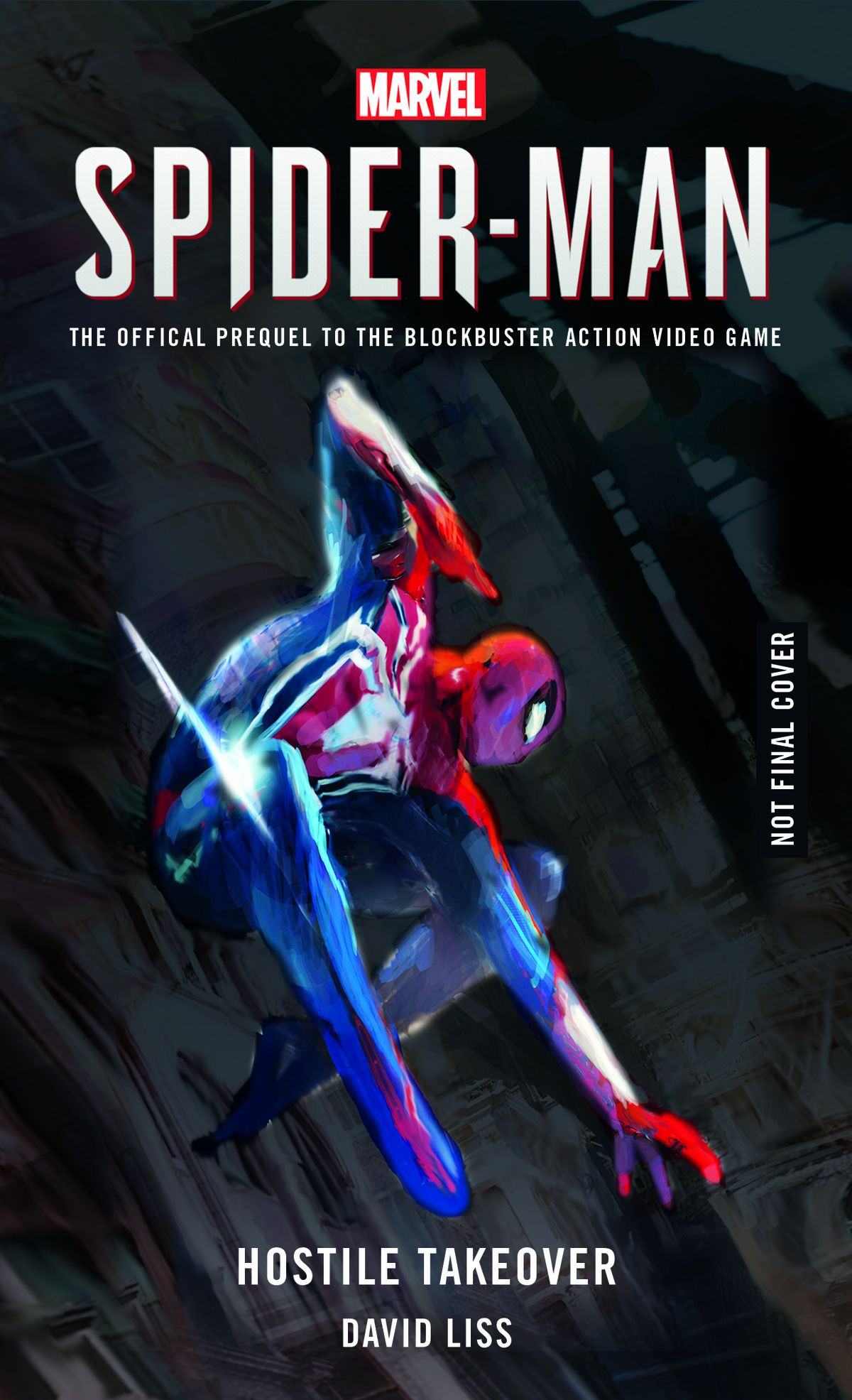 Announcement cover of Spider-Man: Hostile Takeover, Titan Books (2018).