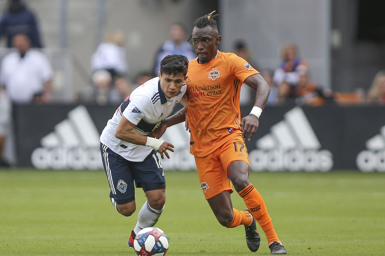 Pick the Houston Dynamo Starting Lineup against the Vancouver Whitecaps
