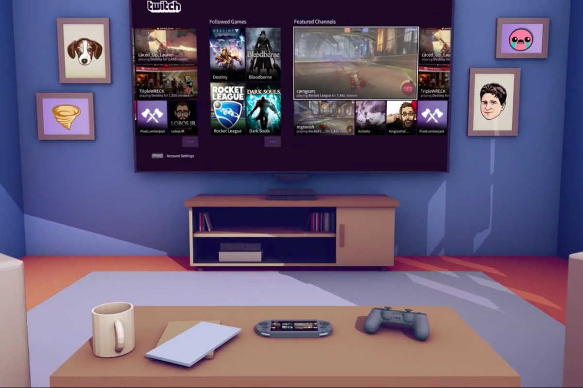 the playstation 4 now has a real twitch app the verge. Black Bedroom Furniture Sets. Home Design Ideas