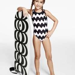 Body Board, $34.99; Girls' One Piece Swimsuit, $24.99