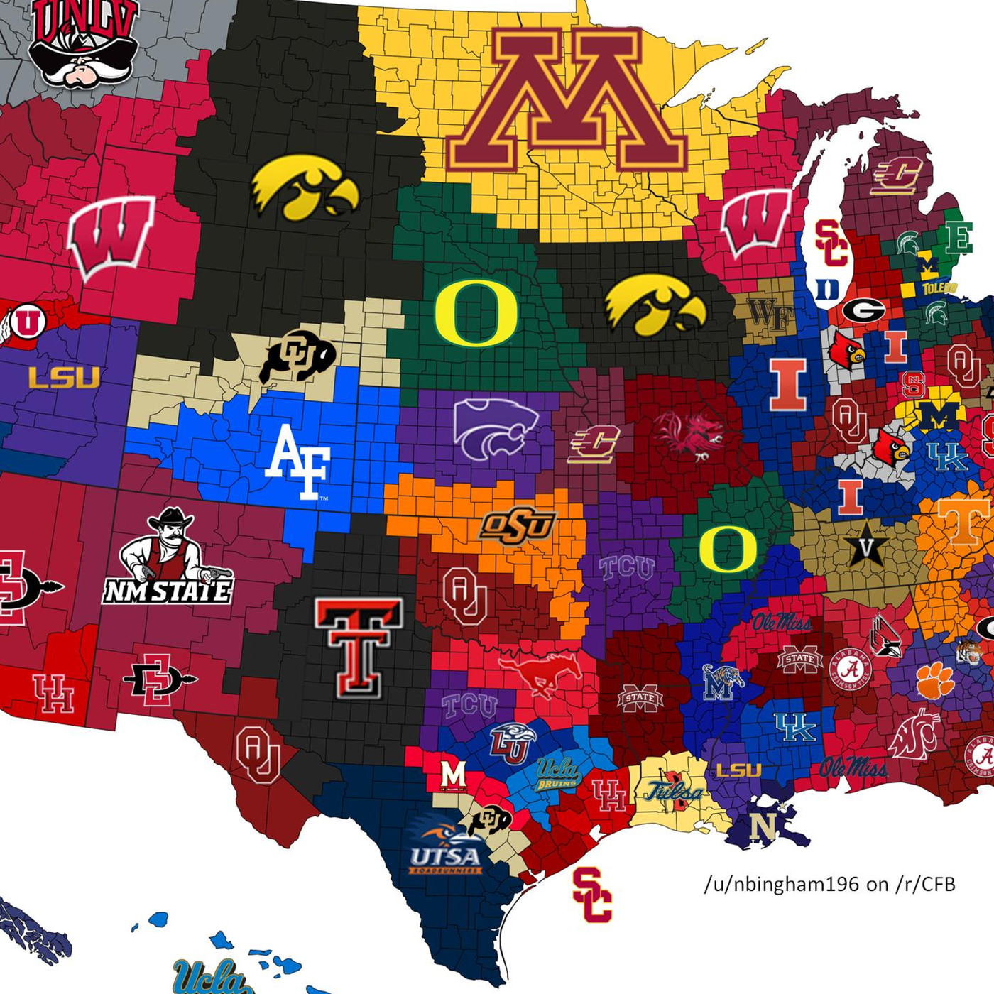 2017 college football map what if each winner took its opponents 2017 college football map what if each winner took its opponents land sbnation publicscrutiny Image collections