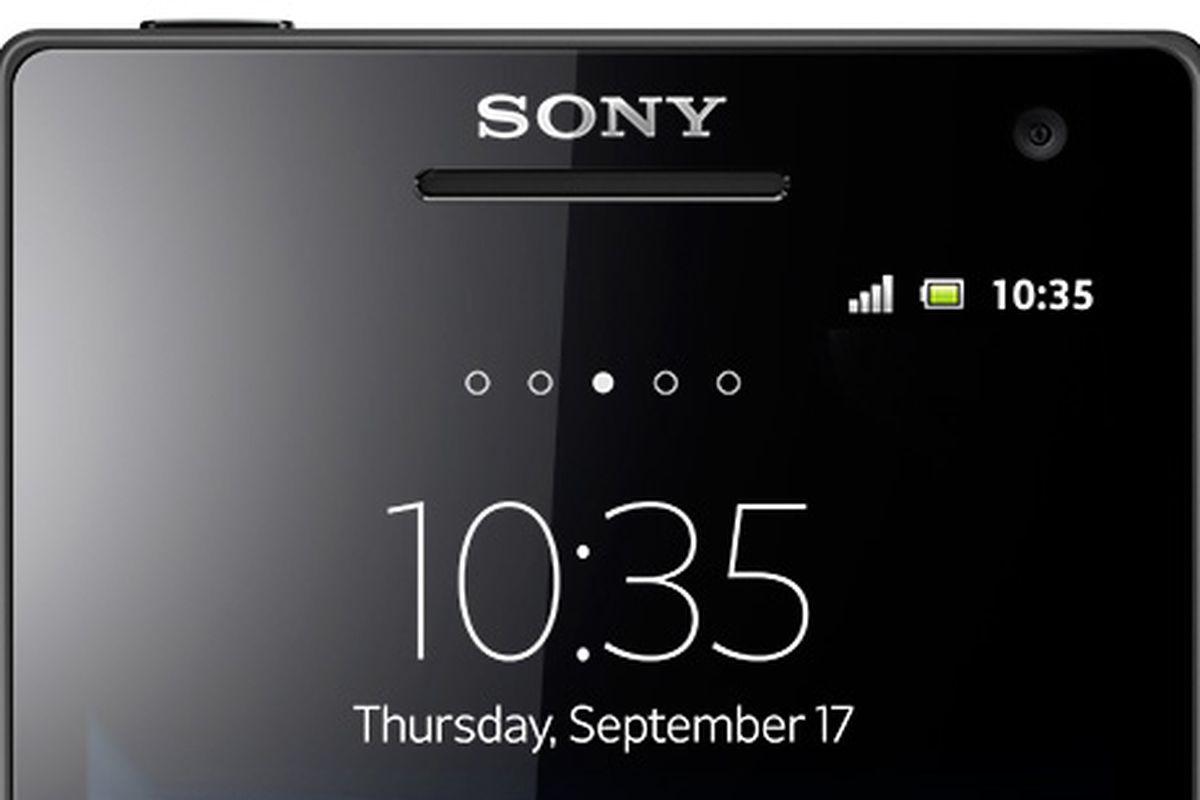 Sony logo on phone