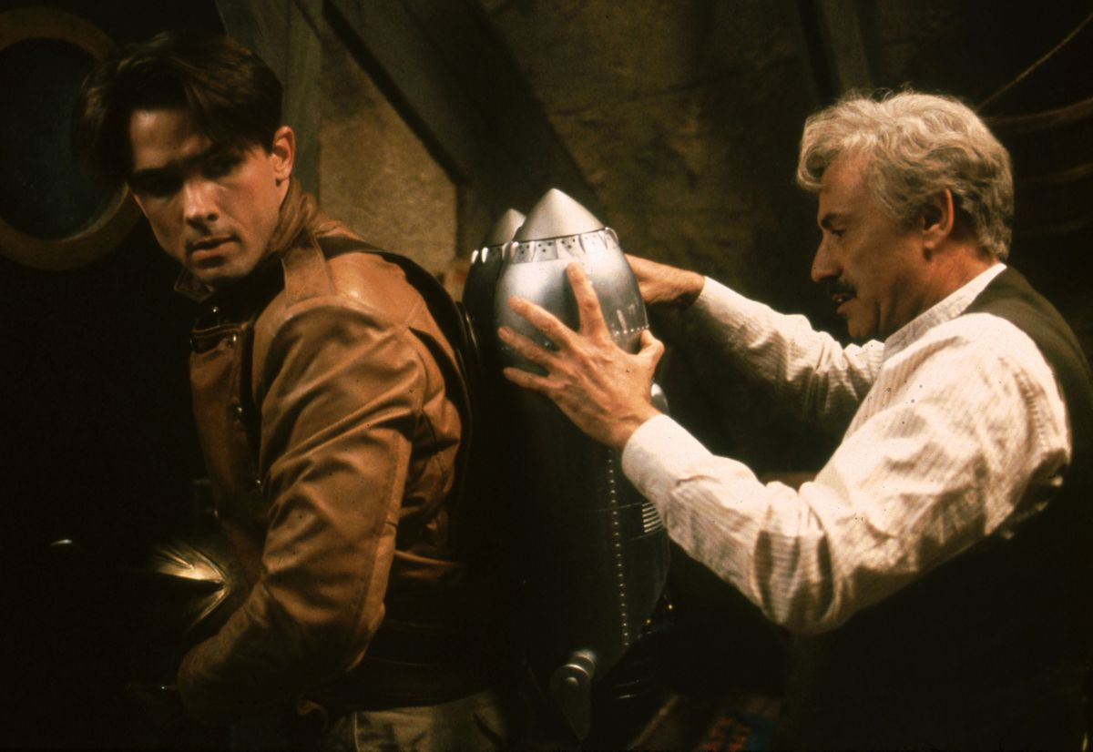 billy campbell and alan arkin in the rocketeer