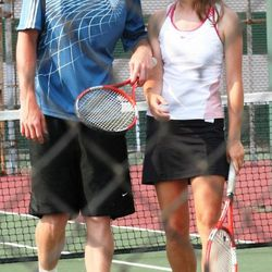 Twins Gordon and Heather Hayward were mixed doubles partners back at Brownsburg High in Indiana.