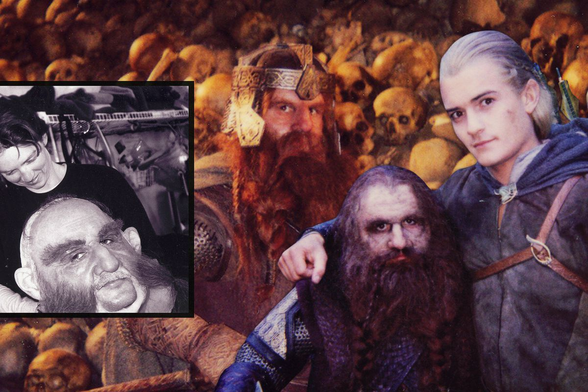 A collection of images of Gimli the Dwarf's stunt double in The Lord of the Rings movies