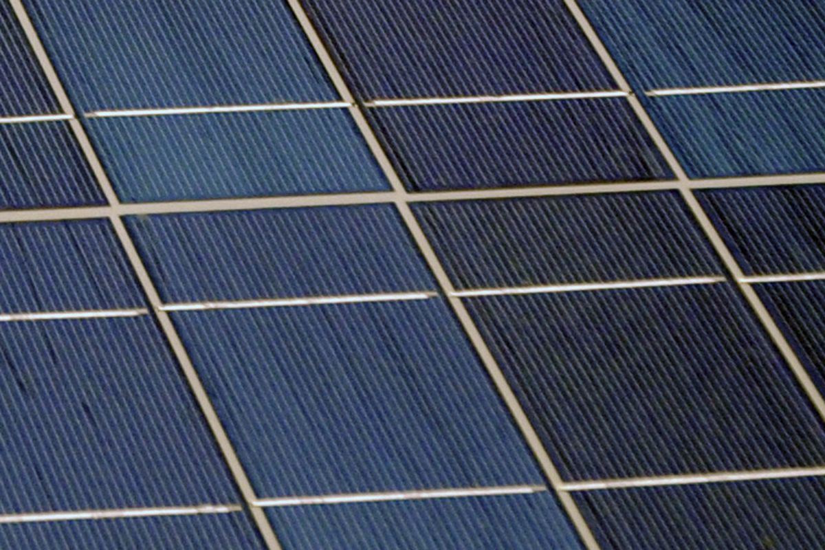 Close-Up of Solar Panel
