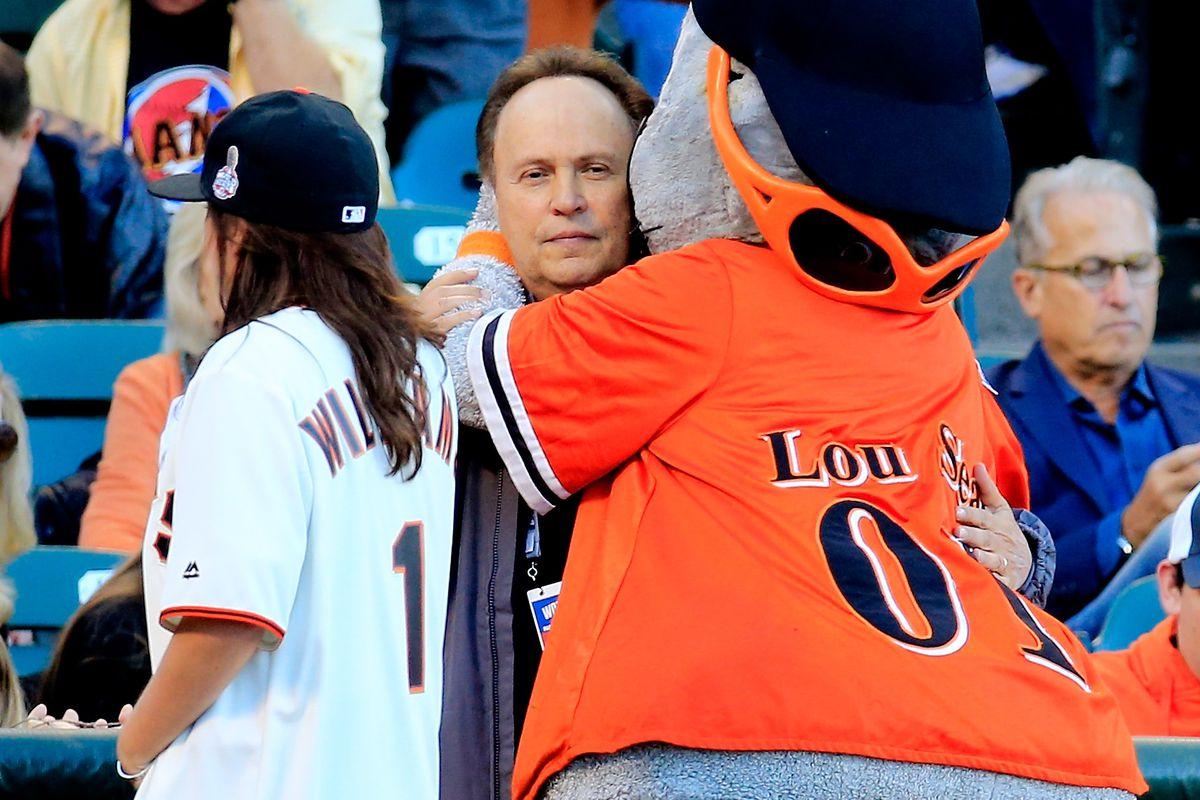 Billy Crystal directed a movie about baseball once. This is not a scene from that film.