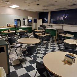 Wrigley Field press box lunch room, November 9, 2019