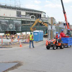 2:37 p.m. Ballpark facilities crew at Clark & Waveland -