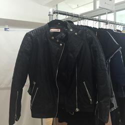 Custommade leather jacket, $300